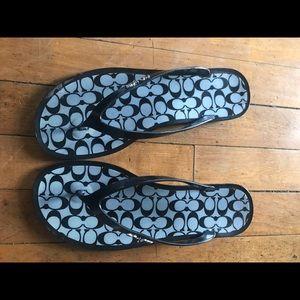 Coach Shoes - Coach flip/flops size 8